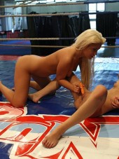 Bibi Noel and Amirah Adara in the ring from NudeFightClub