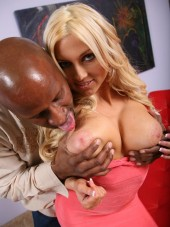 Sexy blonde Christie Stevens fucks and cums from Blacks on Blondes
