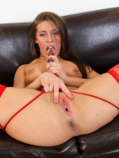 Gracie Glam stockings at CherryPimps
